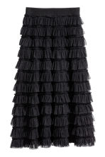 Tiered mesh skirt - Black - Ladies | H&M 2